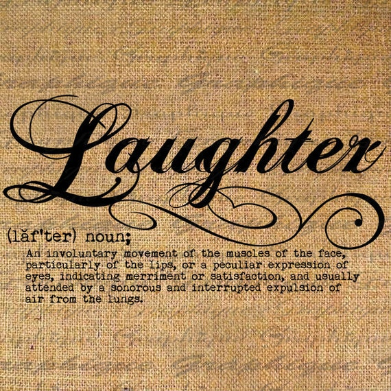 Laughter Definition Word Typography Digital Image By Graphique