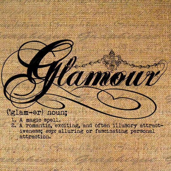 Items Similar To Definition Glamour Text Typography Words