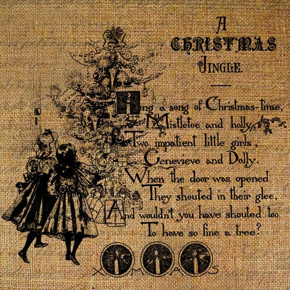 Little Girl Christmas Tree: Items Similar To Victorian Christmas Tree Poem Little