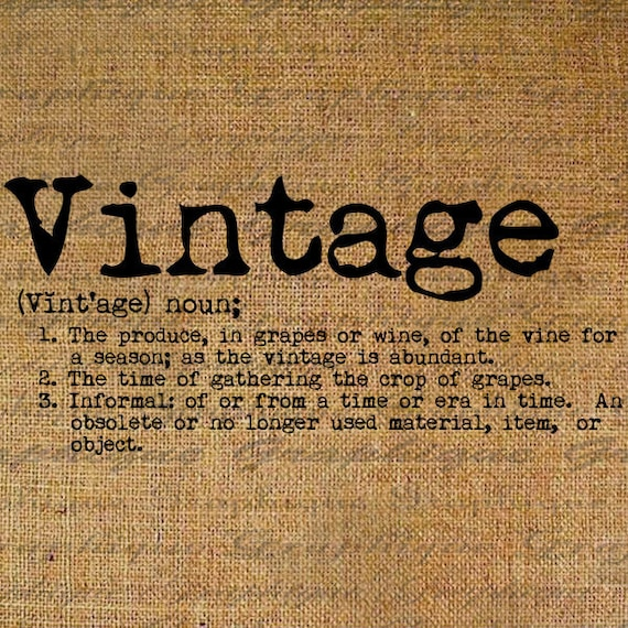 Dictionary definition word vintage typography digital image for Retro design definition