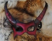 Ruby Demon Leather Mask