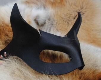 Onyx Imp Leather Mask