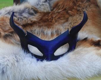 Amethyst Imp Leather Mask