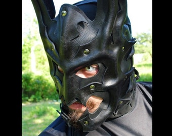 Bat Knight Leather Mask - Inspired by DC's Batman