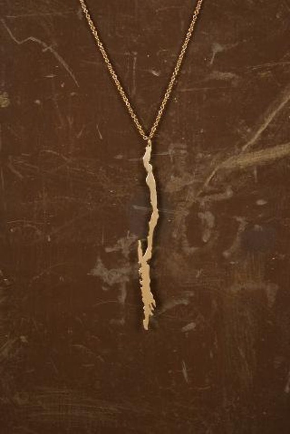items similar to gold lake george necklace on etsy