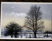 Winter-Snow-Fields-Farm-Blank note card- greeting card-landscape-nature-trees-photography-print-photo
