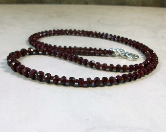 Fine Genuine Ruby OOAK Natural Stone and Crystal Base Root and Heart Chakra Healing Necklace