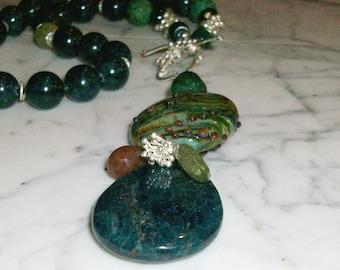 New Love - Elegant Natural Stone and Crystal Chakra Healing and Balancing Necklace