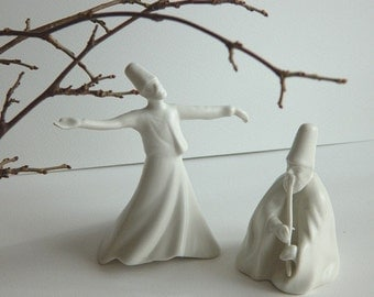 Sufi -Whirling dervish figurine and fluitist by Yildiz Porcelain