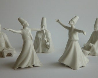 Sufi Ceremony (Whirling dervishes,drummer,narrator,flute player) by Yildiz Porcelain