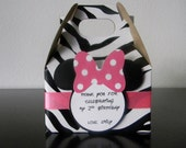 Minnie Mouse Zebra Print Favor Box