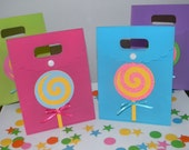 Lollipop/Candyland Birthday Party Favor Bags - Set of 10