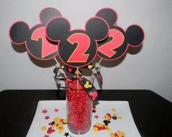 Mickey Mouse Centerpiece - Set of 3 Picks