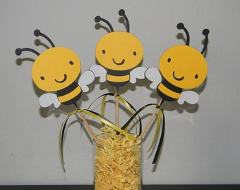 Bumble Bee Centerpiece - Set of 3 - Centerpiece Picks