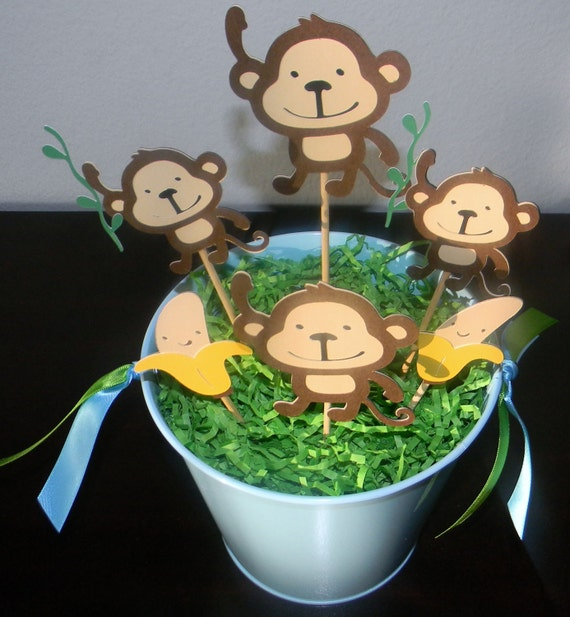 Items Similar To Monkey Themed Centerpiece