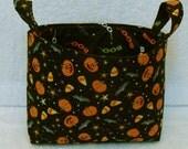 Cotton Bin, Medium Storage Basket, Halloween Print