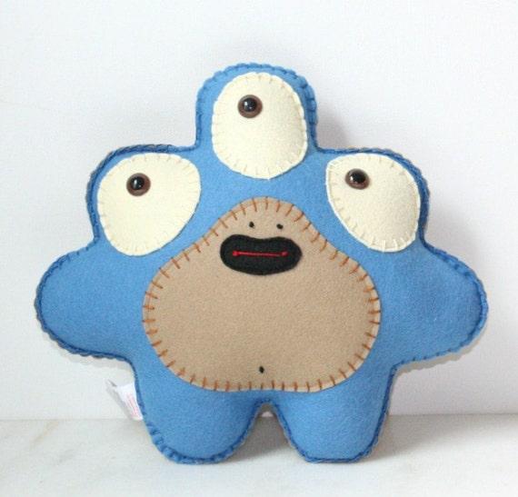 Stuffed Monster Plush, Felt Monster Plush, Alien Plush, Cute Plush, Felt Stuffed Monster
