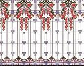 Spanish Tile Designs Reproduced in Miniature - Motif 5