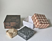 Origami Box Kits in Assorted Designs for Craft Projects and Paper Folding