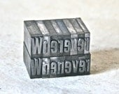 Metal Printer's Type - Whenever/Wherever