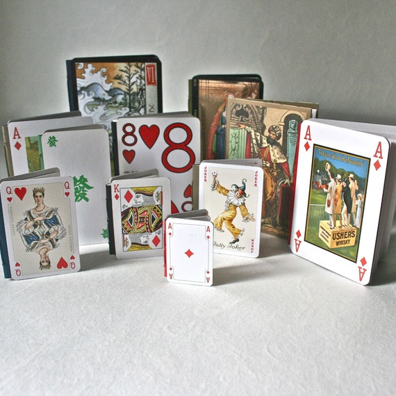 Diy make it yourself playing card book kit for crafting like this item solutioingenieria Gallery
