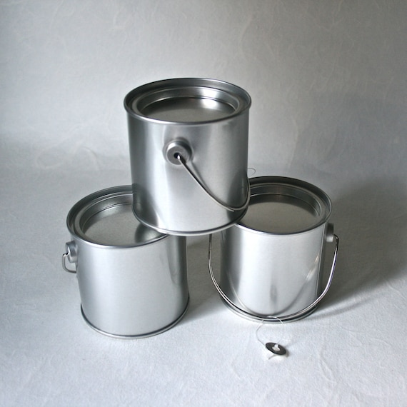 Metal Paint Can Style Containers for Altered Art Punched Tin Gift Packaging Stocking Stuffers