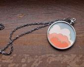 Morning Glory Papercut Art Necklace