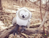 Snowy Owl - Hedwig, Handmade Eco Friendly Felt - Recycled materials, Mothering Magazine Best Natural Toy Guide