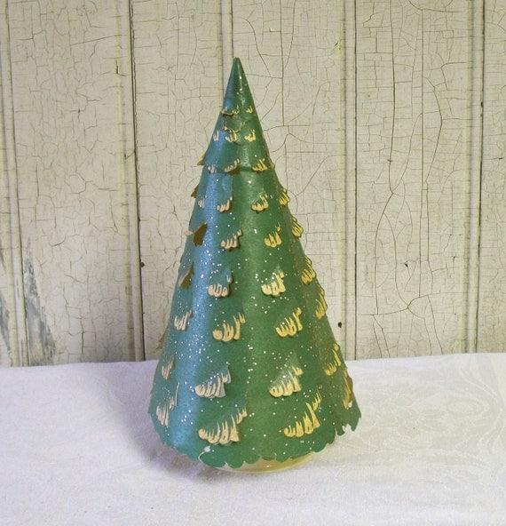 Econolite Green Revolving Christmas Tree 1952