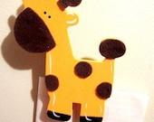 Handmade Giraffe Clothespin Magnet