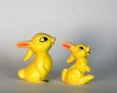 Vintage Goebel Figurines Thumper Rabbits Bunnies Yellow