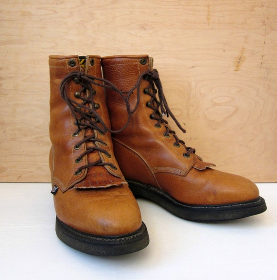 Vintage 70 S Justin Original Work Boots Roper Boots Tall