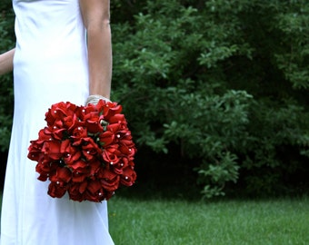 Red Rose Bouquet Real Touch, Winter Wedding, Summer Wedding, Fall Wedding, Artificial Wedding Bouquets, Red Wedding Bouquets