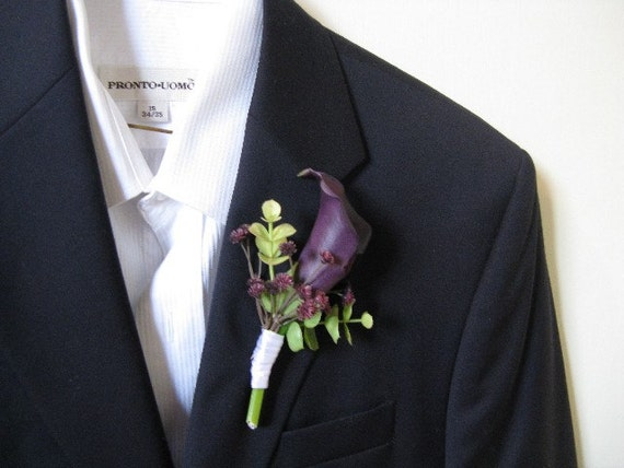 Real Touch Calla Lily Boutonniere