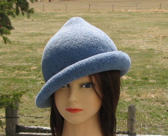 Special order for angels4mike Fleur delacour Beauxbaton Academy Hat Harry Potter Heather Blue Elfish