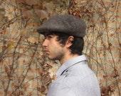 L.L. Bean dark gray knit golfers cap M L