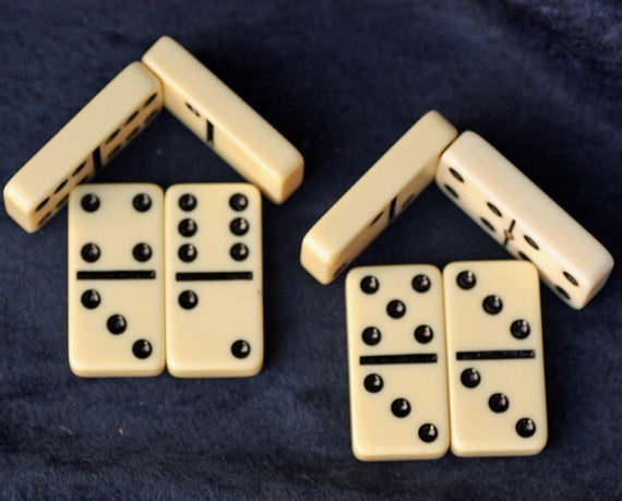 16 Dominos Game Pieces for use in your art or jewelry creation