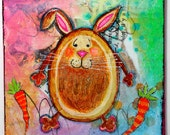 Original Art Easter Bunny Painting on Etsy