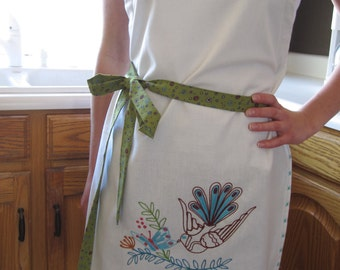 Embroidered Full Apron