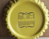 Flan Baking Pan Vintage Yellow