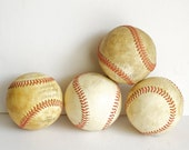 Old Baseballs Instant Collection Grouping Assemblage