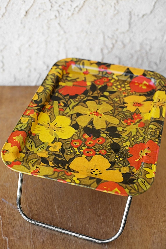 Vintage tv tray 1960s metal for Vintage sites like etsy