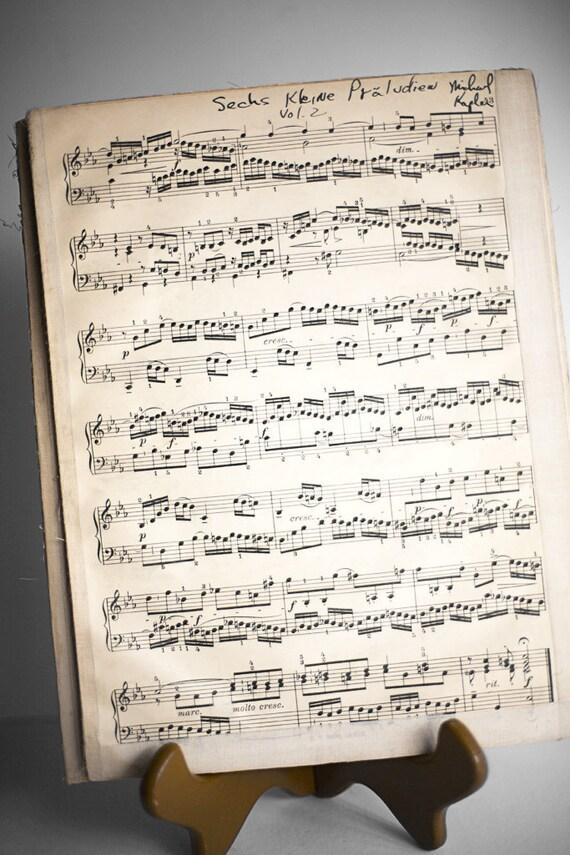 Antique Sheet Music Piano Chopin Liszt