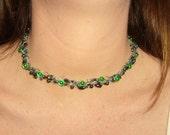 Crochet beaded necklace/choker