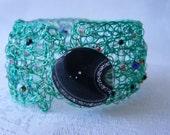 Crochet beaded bracelet/cuff