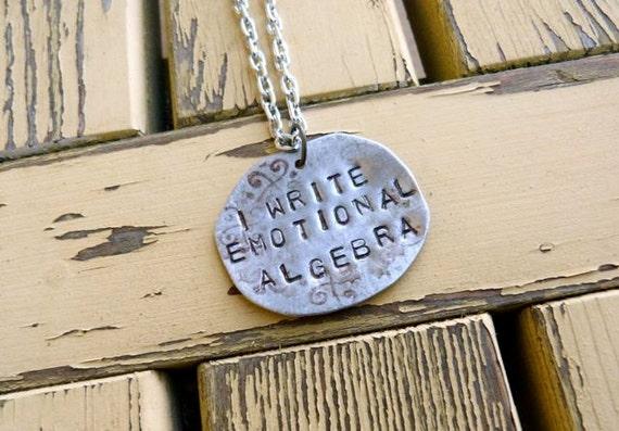 I Write Emotional Algebra Necklace