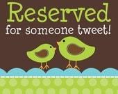 reserved for brenda