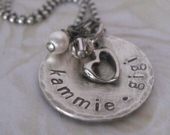 Sterling Silver -Personalized Jewelry- Mothers Necklace