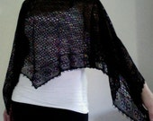 the girly girl shawl (black)