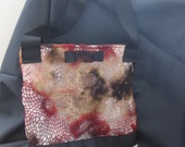 """miss machine couture: handmade handbag with high end materials, original, """"Alex"""" Mini Messenger Bag"""
